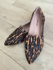New madewell the lou loafer in animal-print calf hair F5100 Sz 6