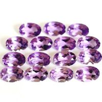 Wholesale Lot 6x4mm Oval Cut Natural African Amethyst Loose Calibrated Gemstone