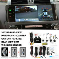 360° HD Car DVR Recording Parking Rear View Bird View Panoramic System 4Camera