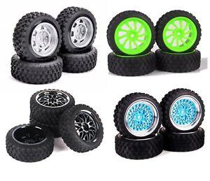 1/10 Rc Rally Car Wheels Tires Set for Hpi Rs4 Traxxas 4tec Kyosho Fazer Pureten