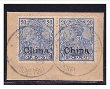 DP China  ° Itschang  4.9.04  2x auf Luxus Briefstück Minr. 18 (2)