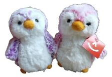 "POM POM PENGUIN BRIGHTS, Violet & Pink 6"" Stuffed Animal Plush by Aurora"