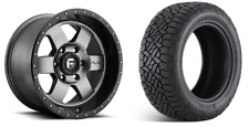 """17"""" Fuel D619 Podium Anthracite Wheels AT Tires Package 6x5.5 Toyota Tacoma Taco"""