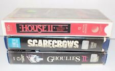 Scarecrows Ghoulies 2 & House 2 Second Story RARE HORROR VHS LOT (3) HTF