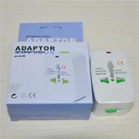 Portable UK US AU to EU European Power Socket Plug Adapter Travel Converter Hot