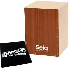 Sela 018 Snare Cajon Bausatz Medium + KEEPDRUM Sitzpad