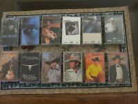 Lot of 12  Country Music Cassette Tapes -  Garth Brooks , George Strait