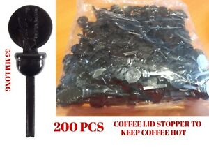 200 Coffee Lid Stopper Stixtogo Espresso To Go Takeaway Beverage 55 MM Long