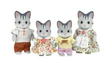Epoch Sylvanian Families Doll Grayish Cat Family FS-06