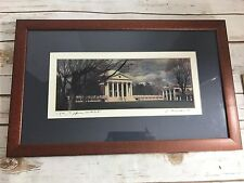 "University Virginia Jack Cacciatore Signed 4""X10.5"" Double Matted Cherrywood Fra"