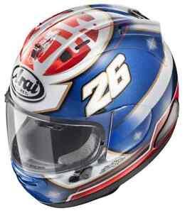 Arai IX Blue White Red Full Face Racing Riding Safety Helmet With anti Fog Visor