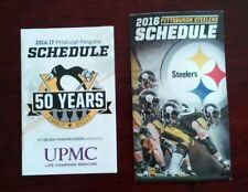 PITTSBURGH STEELERS & PENGUINS 2016 SCHEDULES 50 Years Pens