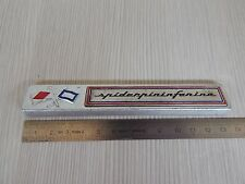 BADGE ORIGINALE PININFARINA SPIDER 124 SCRITTA IN METALLO