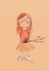 Kunstkarte: Stefanie Messing - Mädchen mit Brille