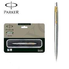 Parker Jotter Stainless Steel GT Ball point Pen Gold Trim Ballpoint New Blue Ink