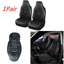 1 Pair PU Leather Sport Style High Back Bucket Seat Covers For Car Front Seat