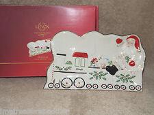 Lenox - Holiday Santa in Train Dessert Tray New in Box