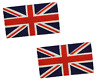 PVC Backing Coir Door Mat Novelty English Union Jack Flag Entrance Mat 40x70cm