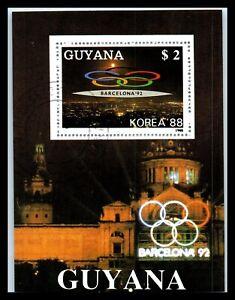 1988 GUYANA Souvenir Sheets - Seoul, South Korea, Olympic Games, Barcelona E1