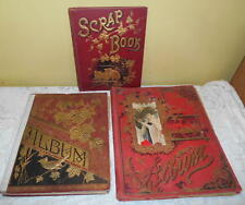 Lot of 3 Victorian Scrapbooks Die Cuts Trade & Calling Cards cut outs Children