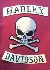 Harley Davidson (BLACK & TAN) Rockers With Reflective Skull and Crossbones Patch