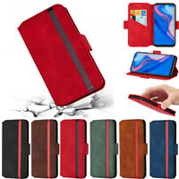 Matte Wallet Leather Flip Case Cover For Huawei P30 Lite Y7 2019 Y9 Prime 2019