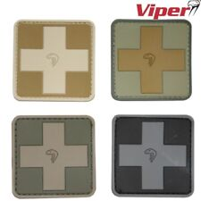VIPER TACTICAL MEDIC RUBBER PATCH 5cm x 5cm UK ARMY NAVY PAINTBALLING ID PANEL