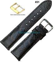 Genuine OSTRICH Skin Leather Watch Strap Band Handmade BROWN 18mm - 24mm #31