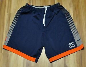 SYRACUSE ORANGEMEN #25 SHORTS NIKE BASKETBALL BLUE TEAM PRACTICE ISSUE 3XL+2