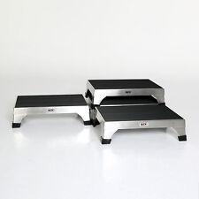 MCM-140 Step Stools Stackable Interlocking 16 gauge Stainless Steel Slip Proof
