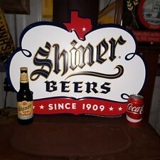 SHINER PREMIEM BEER COTTONBALL COLLECTOR APPROX 24 INCH WIDE X 18 INCH TIN SIGN