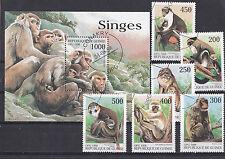 Guinee 1998 - Block + Set - Dieren/Animals/Tiere (Apen / Monkeys)