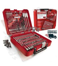 Craftsman 100 piece Drilling Driving Kit Polished Mechanic Tools Combo Case