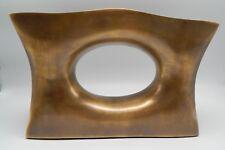 Arteriors Contemporary Modern Delaney Brass Finish Double Vase