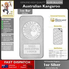 1oz (ounce) Silver Bullion Bar | Perth Mint | Kangaroo Minted 99.99% | FREE P&H!