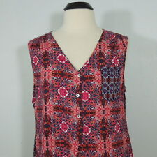 AVENUE Women's Printed Rayon Sleeveless Blouse size 18/20