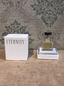 Rare Vintage ETERNITY by Calvin Klein Original Scent Pure Parfum Splash .25oz