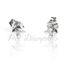 Orecchini Punto Luce in oro 18 Kt e diamanti naturali ct 0,10 PREZZO IMBATTIBILE