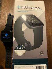 Fitbit Versa 2 Smartwatch- Black/Carbon