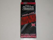 "Nib Eh Elite Hockey Waxed Moulded Tip Laces Skate Orange 120"" Lace Pro-Series"