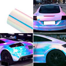 Holographic White Rianbow Chrome Car Interior Vinyl Wrap Stickers 135cm x 20cm