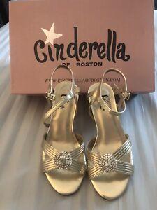 Cinderella of Boston Gold High Heel Dress Shoes Size 3M