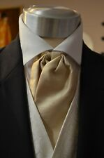 Pre-Tied Adjustable Classic Cravat, Taupe Wedding, Formal, Prom