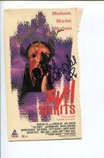 Michael Berryman Martine Beswick Arte Johnson Signed Autograph VHS Cover Photo