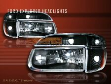 1995-01 FORD EXPLORER / 97 MERCURY MOUNTAINEER HEADLIGHTS+SIGNAL BUMPER 4 PCS