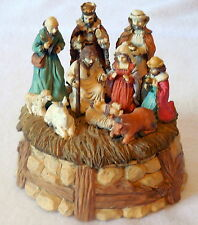 LEFTON 1992 NATIVITY Christmas MUSIC BOX Silent Night