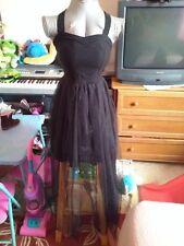 black chiffon dress fit size0-4
