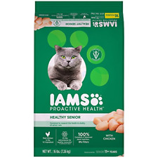 New listing Iams Proactive Health Healthy Senior Dry Cat Food With Chicken, 16 Lb. Bag