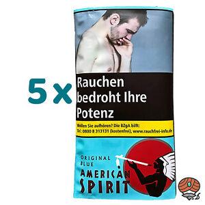 5 x American Spirit Original Blue Drehtabak à 30 g