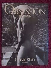 1990 Print Ad Calvin Klein Obsession Men's Cologne Fragrance ~ Man Carries Woman